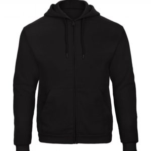 Hooded Full Zip Sweatshirt Unisex WUI25_black