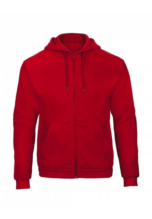 Hooded Full Zip Sweatshirt Unisex WUI25_red