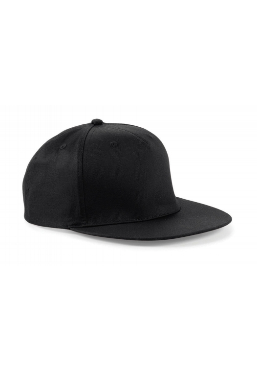 5 Panel Snapback Rapper Cap_black