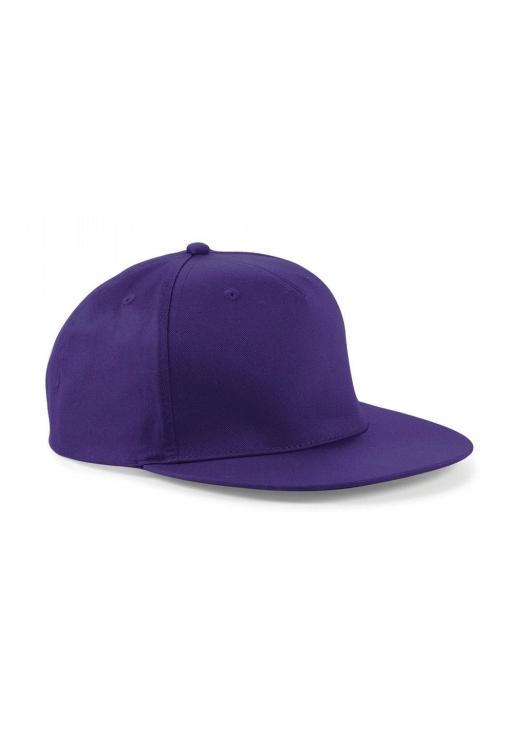 5 Panel Snapback Rapper Cap_purple