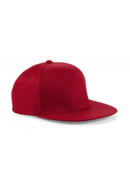 5 Panel Snapback Rapper Cap_classic-red