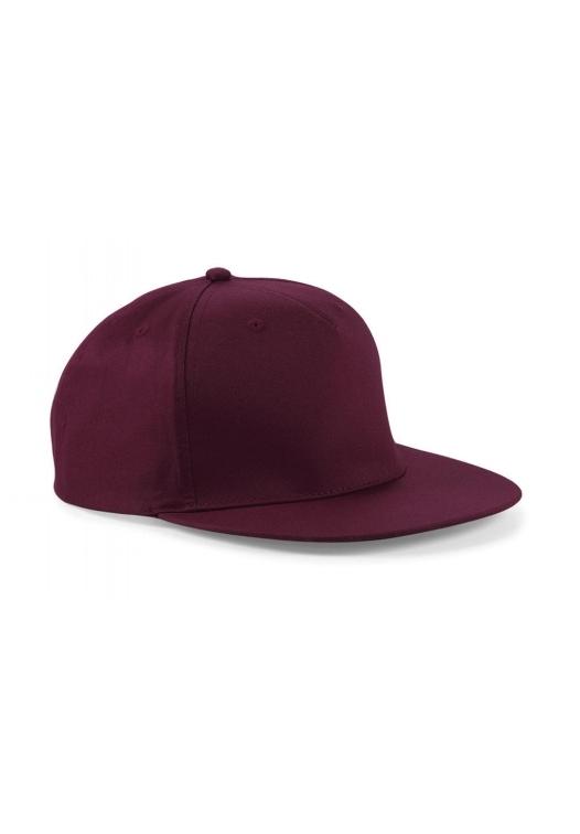 5 Panel Snapback Rapper Cap_burgundy