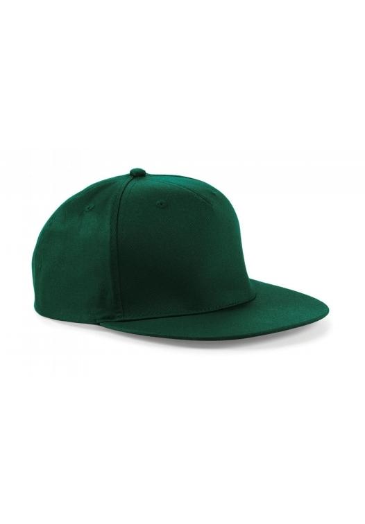 5 Panel Snapback Rapper Cap_bottle-green