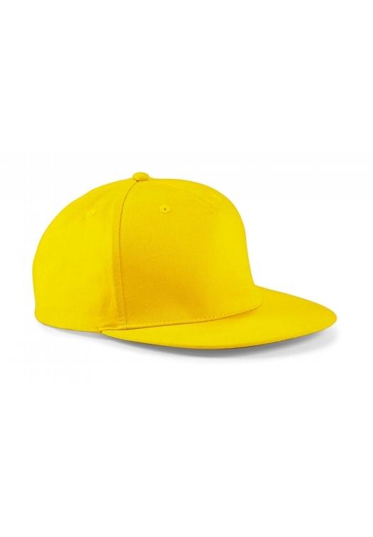 5 Panel Snapback Rapper Cap_yellow