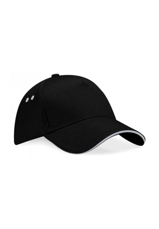 Ultimate 5 Panel Cap – Sandwichschirm_155_black-light-grey