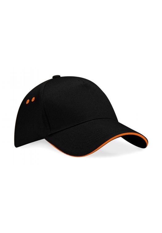 Ultimate 5 Panel Cap – Sandwichschirm_167_black-orange