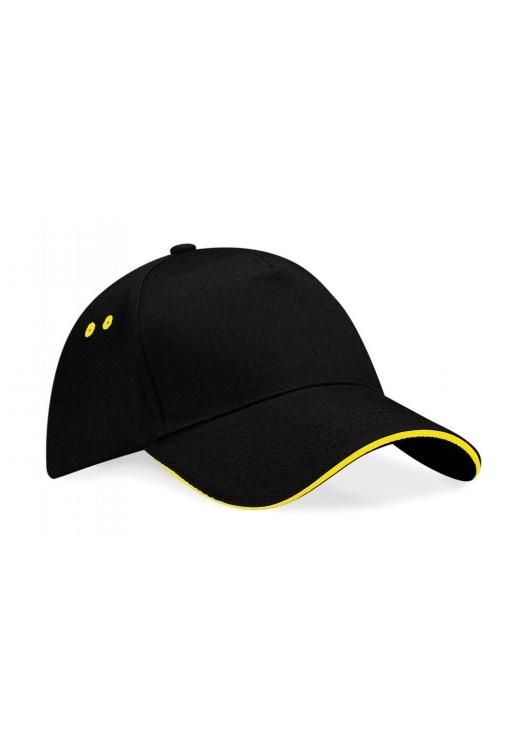 Ultimate 5 Panel Cap – Sandwichschirm_168_black-yellow