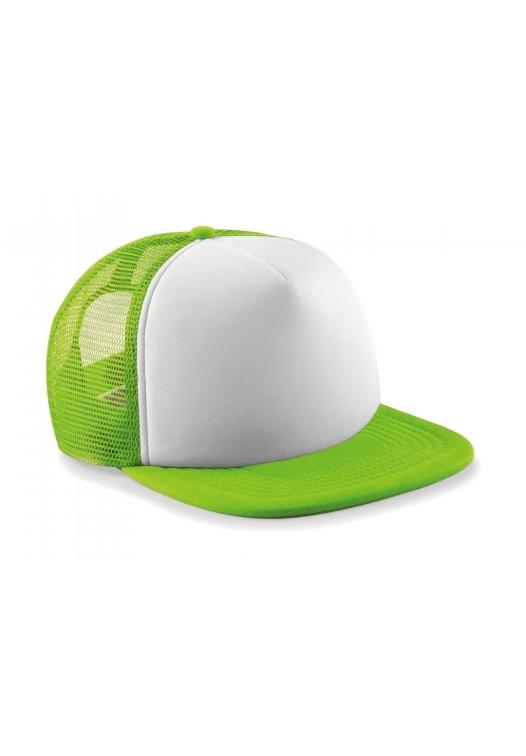 Vintage Snapback Trucker_555_Lime-Green-White