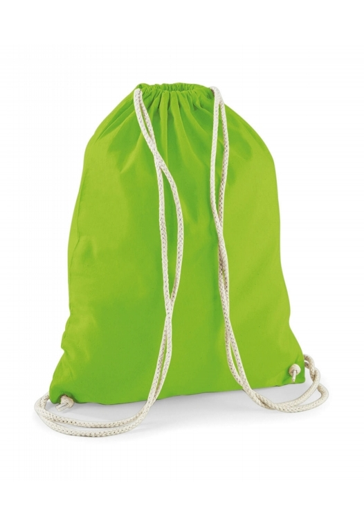 Cotton Gymsac_Lime-Green