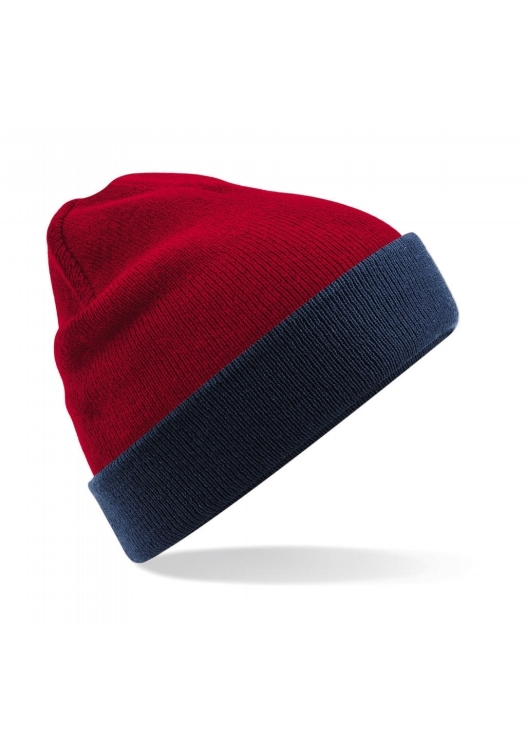 Reversible Contrast Beanie_460_Classic-red-french-navy