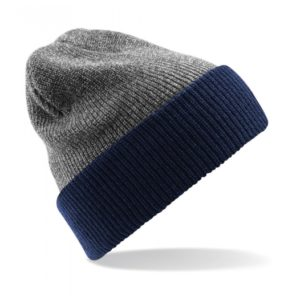 Reversible Heritage Beanie_175_Heather-grey-french-navy