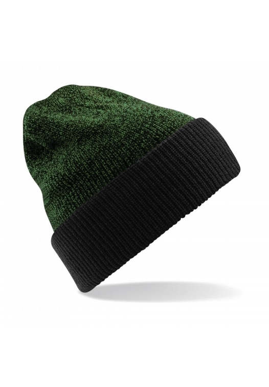 Reversible Heritage Beanie_558_Black-Kelly-Green